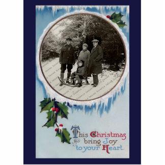 Vintage WeihnachtsFoto-Skulptur-Verzierung Acrylausschnitte