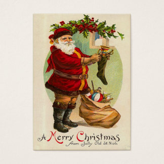 Vintage Weihnachtsgeschenk-Umbauten Visitenkarte