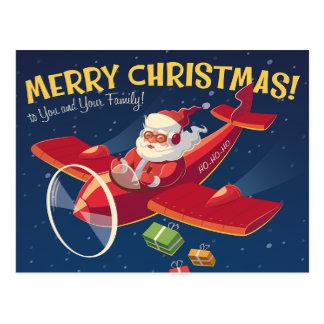 Vintage Weihnachtsgruß-Karte Postkarte