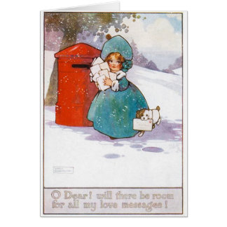 Vintage Weihnachtskarte, Anfang des 19. Karte