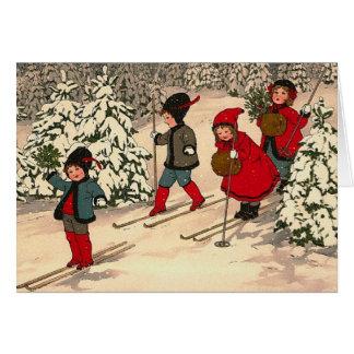 Vintage Weihnachtskarte Grußkarte