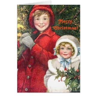 Vintage Weihnachtskarte Karte