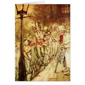 """Vintage Weihnachtskarte """"Licht-Posten """" Karte"""