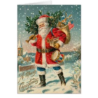 Vintage Weihnachtskarte Sankt Karte