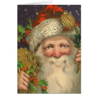 Vintage Weihnachtskarte Sankt Nikolaus Karte
