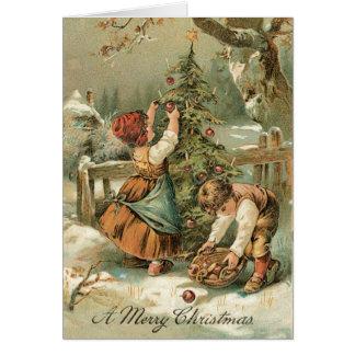 Vintage Weihnachtskarte - sehr süße Karte
