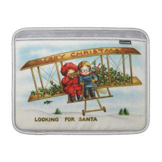 Vintage Weihnachtskinder, die nach Sankt suchen Sleeve Fürs MacBook Air