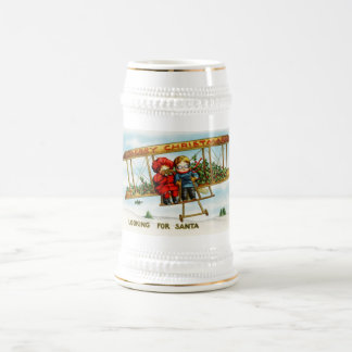 Vintage Weihnachtskinder, die nach Sankt suchen Kaffeetasse
