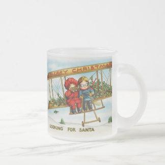 Vintage Weihnachtskinder, die nach Sankt suchen Teehaferl