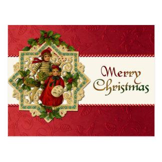 Vintage Weihnachtskinderpostkarte Postkarte