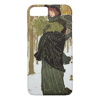 Vintage Weihnachtskunst Nouveau Scribners iPhone 8/7 Hülle