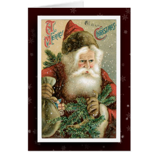 Vintage Weihnachtsmann-Bild-Gruß-Karte Karte