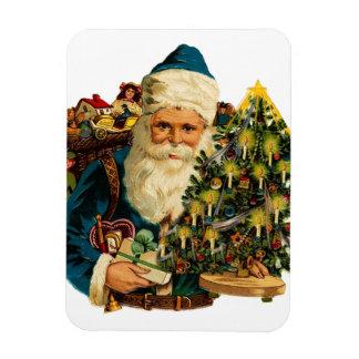 Vintage Weihnachtsmann-Lager-Geschenke für jeder Magnet