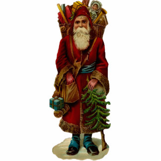 Vintage Weihnachtsmann-Skulptur-Verzierung Photo Statue
