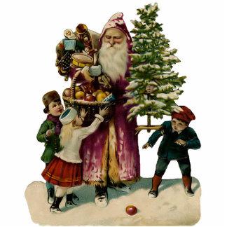 Vintage Weihnachtsmann-Skulptur-Verzierung Acrylausschnitt