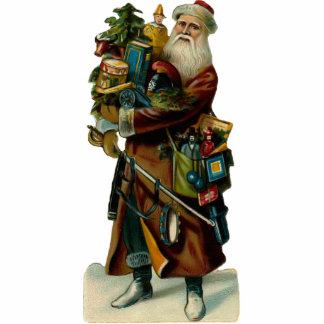 Vintage Weihnachtsmann-Skulptur-Verzierung Photofigur