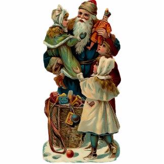Vintage Weihnachtsmann-Skulptur-Verzierung Fotoskulptur Ornament