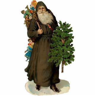 Vintage Weihnachtsmann-Skulptur-Verzierung Foto Ausschnitte