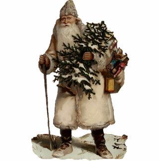 Vintage Weihnachtsmann-Skulptur-Verzierung Photo Skulpturen