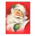 Vintage Weihnachtsmann-Weihnachtspostkarten Postkarte