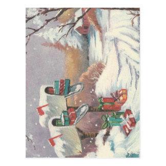 Vintage Weihnachtspost Postkarte