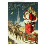Vintage Weihnachtssankt-Karte
