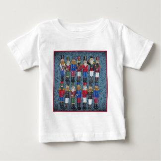 Vintage Weihnachtszahlen, alte Soldaten Baby T-shirt
