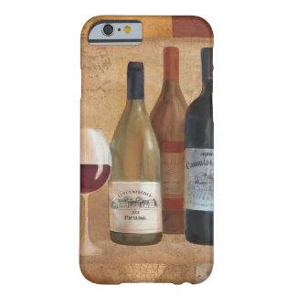 Vintage Wein-Flaschen und Wein-Glas Barely There iPhone 6 Hülle