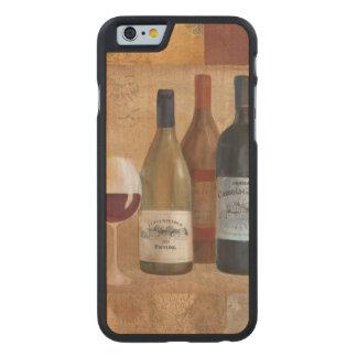 Vintage Wein-Flaschen und Wein-Glas Carved® iPhone 6 Hülle Ahorn