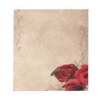 Vintage Weinbrand-Rose Notizblock