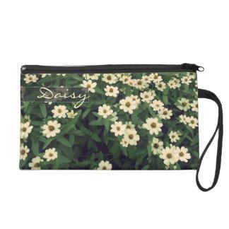 Vintage weiße BlumenBlumen-Mädchenwristlet-Tasche Wristlet Handtasche