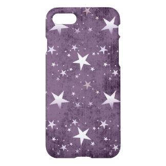 Vintage weiße Sterne auf lila Hintergrundvektor iPhone 8/7 Hülle