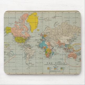 Vintage Weltkarte 1910 Mauspad