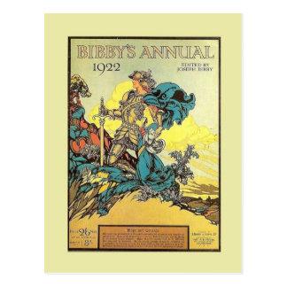 Vintage Werbung, Bibbys Jahrbuch 1922 Postkarten