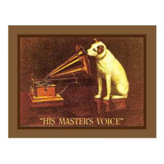 Vintage Werbung, die Stimme sein Meisters, Postkarte