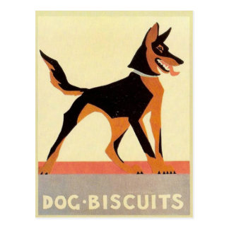 Vintage Werbung, Hundekuchen Postkarte