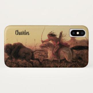 Vintage West-, indischer Büffel-Jagd durch Charles iPhone X Hülle