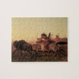 Vintage West-, indischer Büffel-Jagd durch Charles Puzzle