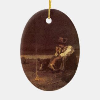 Vintage Western-Cowboys, EbenenHerder durch NC Keramik Ornament