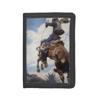 Vintage Western-Cowboys, sträubend durch NC Wyeth