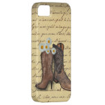 Vintage Western-Cowboystiefel romantisches iphone5 iPhone 5 Cover