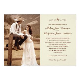 Vintage Western-Foto-Hochzeits-Einladungen 12,7 X 17,8 Cm Einladungskarte