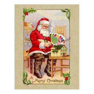 Vintage Wiedergabe-Postkarte Weihnachtssankt Postkarte