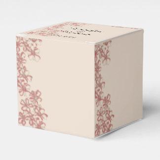 Vintage Wildblume-korallenroter SahneGastgeschenk Geschenkschachtel