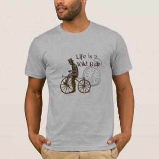 Vintage wilde FahrtSteampunk Fahrrad-Collage T-Shirt