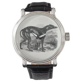 Vintage Windhund-Hunde1800s - Windhund-Hunde Uhr