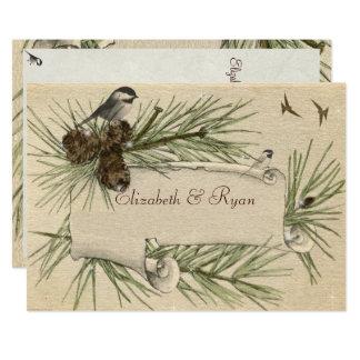 Vintage Winter-Land-Hochzeits-Einladung Karte
