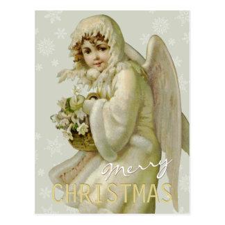Vintage Winterengel CC0621 Weihnachtspostkarte Postkarte