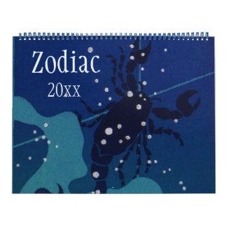 Vintage Zeichen der Tierkreis-himmlischen Abreißkalender