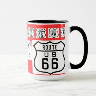 Vintage Zeichen-Geschenke des Weg-66 Tasse